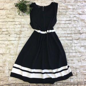 TALBOT's Women's Black White Midi Dress SZ XLp